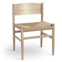 Nestor Side Chair by Mater at Lumens.com Dining Furniture, Dining Chairs, Oak Color, Shaker Style, Side Chairs, Seat Cushions, Home Accessories, Outdoor Chairs