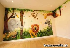 Busy Jungle Mural