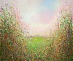 """Saatchi Art Artist: Sandy Dooley; Acrylic 2014 Painting """"View To Hawkhurst Sold (commission)"""""""