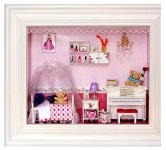 Diy doll house handmade real princess romantic wedding gift assembling finished product dollhouse toy $36.40 **I have used this seller before and they are reliable and make sure you are satisfied with your purchase. These kits contain EVERYTHING you see in the pictures including all the lights, furniture and food.**