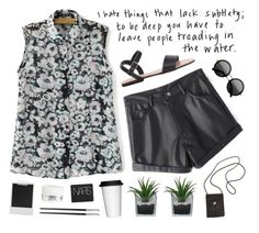 """""""something in the way you move"""" by silvanacavero on Polyvore featuring American Apparel, The Row, Threshold, Sagaform, Christofle, NARS Cosmetics, Polaroid, Kiehl's, women's clothing and women"""