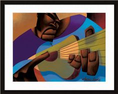 Fingerstyle Freddy by Maurice Evans  http://www.artsperfect.com/products/art00810/Fingerstyle-Freddy  Framed and Matted Art - $169.00