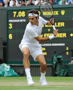 Roger Federer - Wimbledon...this is not his 2015 gear...the big change is the collar of his current shirt...stylish of course !