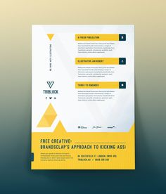 Free Flyer Template. Download this free flyer templates for both ...