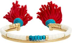 This summer, give your wrists some color and character with statement, festival-ready bracelets. Shop the 18 best, including Aurélie Bidermann Double-Band Cuff here.
