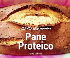 Pane Proteico fatto in Casa (circa 110 kcal a panino) - Light Recipes, Clean Recipes, Veggie Recipes, Keto Recipes, Healthy Recipes, Pizza, Good Food, Yummy Food, Protein Foods
