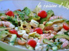 Salade avocat crevettes pomélo, Recette par Agnes.f - Ptitchef
