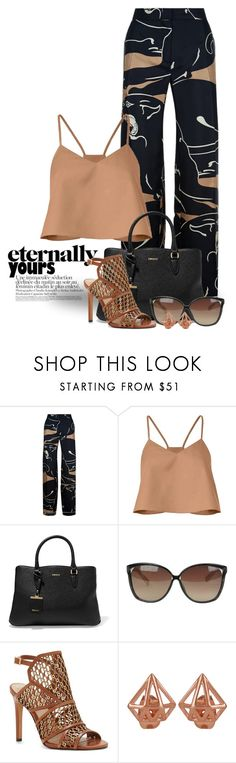 """""""Summer Pants 4006"""" by boxthoughts ❤ liked on Polyvore featuring Valentino, TIBI, DKNY, Linda Farrow and Vince Camuto"""