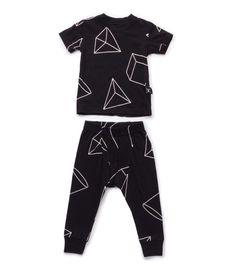 68cd0e49183 black geometric loungewear for kids - NUNUNU WORLD