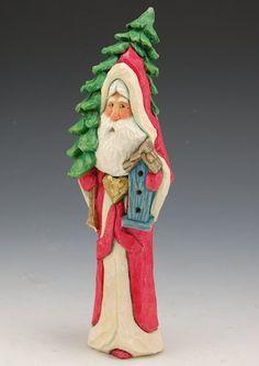 Santa with birdhouse and tree