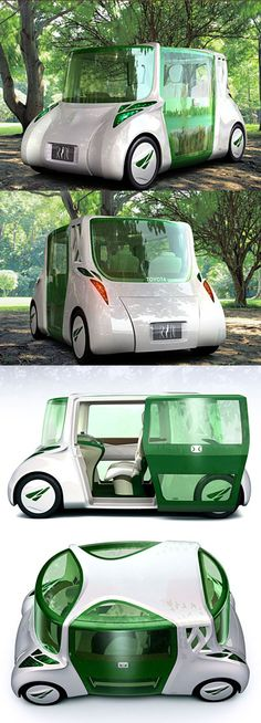 The RiN concept from Toyota is a vehicle which focuses on making the lives of the driver and passengers, and actually everyone around it, more healthy and stress-free.