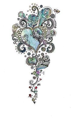 Color zentangle pinned with #Bazaart - www.bazaart.me