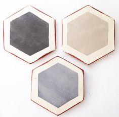 hexagon tiles brooke wagner design click the image or link for more info. Floor Design, Tile Design, House Design, House Tiles, Wall Tiles, Surface Studio, Modern Flooring, Flooring Ideas, Hexagon Tiles
