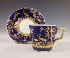 Mintons Porcelain Cup & Saucer, c. 1875. Aesthetic Movement.