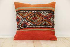 Bohemian Pillow Throw Kilim Pillow Cover Wool by ANATOLIANRUGS, $30.00