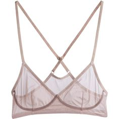 Underwear Carly Top Beige ❤ liked on Polyvore