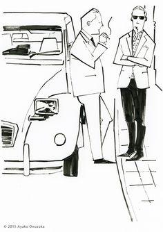 ayako onozuka #illustration #Fashion #Drawing #イラストレーション