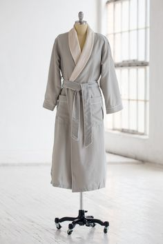 951cf20cb0 Classic Spa Robe - Plush Velour   Microfiber - Sage Green