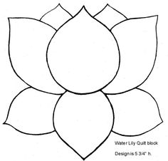 This lily can be appliqued and embroidered or just embroidered onto a quilt block.