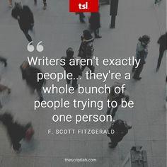 Quotable – F. Scott Fitzgerald – Writers Write