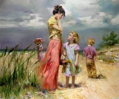 Danielle Richard Painting Beach | Mothers Love World :Children feels that every reply of their query is ...