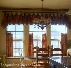 3 Easy-To-Make Handkerchief Style Valances | Beyond the Screen Door