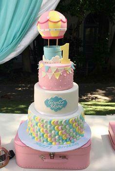 Yoghurt cake with Cook Expert - HQ Recipes Girl Birthday Themes, Baby Birthday, 1st Birthday Parties, Hot Air Balloon Cake, Air Ballon, Balloon Birthday Cakes, Baby Shower Fall, Baby Shower Balloons, 1st Birthdays