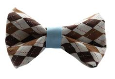 Argyle Bow Tie for Dog Collar. $12.00, via Etsy.  For the Dapper Dog in your house!!