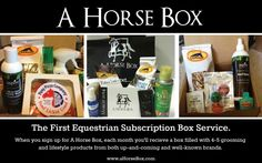 Boxes ship every 15th of the month! #horse #equestrian #horselover