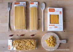 La Pasta Packaging by Grafòin Rome / pasta plus complementary products such as oils and condiments united by a common denominator of craftsmanship and Italian style