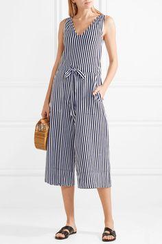 32755f176370 MDS Stripes - Amanda striped cotton-jersey jumpsuit