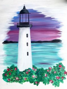 Check out Lighthouse Sunset By The Sea at Ristorante Di Palermo - Paint Nit. Check out Lighthouse Sunset By The Sea at Ristorante Di Palermo – Paint Nite - Cute Canvas Paintings, Canvas Painting Tutorials, Easy Canvas Art, Small Canvas Art, Easy Canvas Painting, Simple Acrylic Paintings, Diy Painting, Sea Paintings, Art Mini Toile