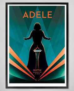"""Day One Adele Fans on Twitter: """"Beautiful Seattle lithographs inspired by the…"""