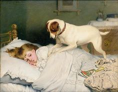- Charles Burton Barber (1845–1894), was an English painter who attained great success with his paintings of children and their pets. During his lifetime Barber was regarded as one of Britain's finest animal painters and received commissions from Queen Victoria to do paintings of her with grandchildren and dogs L03063112.jpg