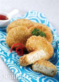 Nugget Tahu Femina Baby Food Recipes, Snack Recipes, Cooking Recipes, Healthy Recipes, Snacks, Healthy Food, Yummy Recipes, Nuggets Recipe