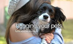 hugging your pet