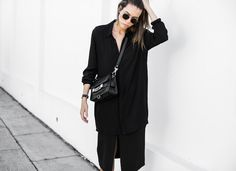 MODERN LEGACY fashion blog all black street style monday Proenza Schouler PS11 BC the Label Acne Jensen suede ankle boots (1 of 4)