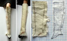 """How to make """"spats"""" (to transform shoes into boots) for your fashion doll. fashiondollstylist.blogspot.com"""