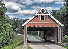 One of the 17 covered bridges in Ashtabula County, Ashtabula, OH.  Netcher Road Covered Bridge.