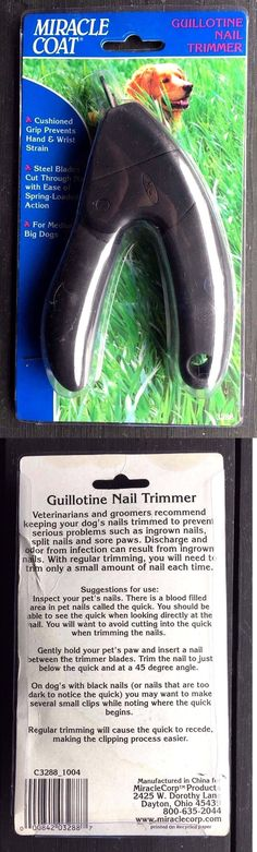 Claw Care 177793: Miracle Coat Guillotine Nail Trimmer -> BUY IT NOW ONLY: $63.83 on eBay!