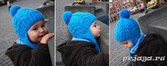 Детская шапка спицами «Я люблю косы»