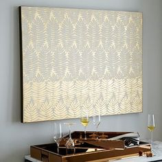 dining art opt, again budget same concern as with stools--good back up option! Gilded Fern Wall Art #westelm