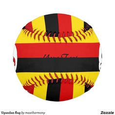 Ugandan flag baseball