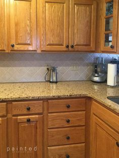 Tired of that dated honey Oak cabinetry? Check out this kitchen& transformation from bland to beautiful! Ever wondered what Oak grain looks like after. Staining Oak Cabinets, Honey Oak Cabinets, Espresso Kitchen Cabinets, Kitchen Cabinets And Countertops, Painting Kitchen Cabinets, Kitchen Cabinetry, Kitchen Paint, Kitchen Redo, Kitchen Remodel
