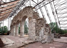 The beautiful ruins of a cathedral, originally built in Romanesque architecture, can be seen at Hedmark Museum in Hamar.  How to get there: Hedmark Museum, Øyvind Lund/Visit Oslo region.  posted on Visit Norway/Facebook