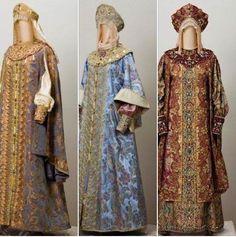 dresses of Russian aristocrats.