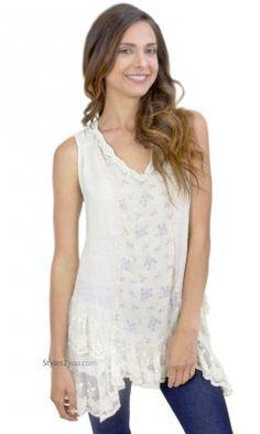 924a674c540 Chesapeake Vintage Lace Shirt Dress In Cream Pretty Angel Tunic