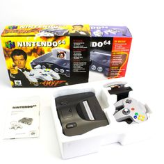 Vintage N64, Nintendo 64 Limited Edition Golden Eye Edition, Boxed