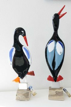 Fused glass - birds