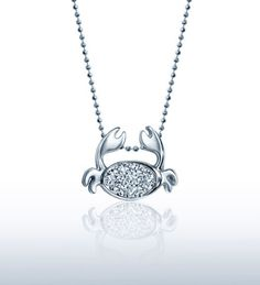Alex Woo Jewelry | Little Signs Crab (Cancer) in 14kt White Gold and Diamonds